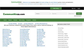 Communitiezz - National to local business related information listings.